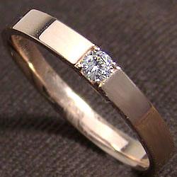 ダイヤメンズリング ピンクゴールドK18 一粒ダイヤモンド men'sアクセサリーK18PG 結婚式 ジュエリーショップ プレゼント 贈り物 オシャレアイテム ギフト