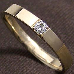 一粒ダイヤモンドリング men'sアクセサリーK10YG イエローゴールドK10 結婚式 ジュエリーショップ プレゼント 贈り物 記念日や誕生日に ギフト