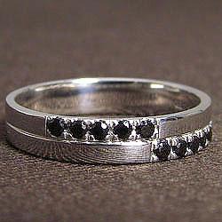 ブラックダイヤモンド メンズリング 指輪 K18WG クロスデザイン 4mm幅 ホワイトゴールドK18 アクセサリー 誕生日 プレゼント 十字架 ジュエリー 文字入れ 刻印 可能 メンズアクセサリーショップ ギフト クリスマス プレゼント xmas