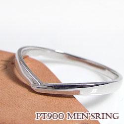 メンズリング プラチナ900 Pt900 Vライン アクセサリー 指輪 男性用 アイテム 誕生日 プ レゼント ジュエリー 記念日 贈り物 サプライズ 工房 通販 直送 ショップ ギフト