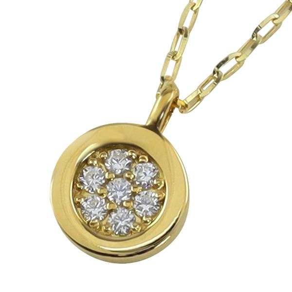 18金 メンズ ネックレス K18 サークル ダイヤ 送料無料 メンズネックレス ダイヤモンド 限定品 ゴールド 1mm幅 激安通販販売 ペンダント バレンタインデー 50cm アズキチェーン プレゼント シンプル 男性用 チェーン