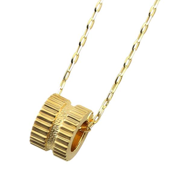 ゴールド シンプル プレゼント チェーン 50cm アズキチェーン K10 バレンタインデー 1mm幅 ペンダント 10金 サークル メンズネックレス ゴールド 男性用