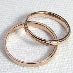 結婚指輪 ゴールド ミル打ち ストレート ペアリング ピンクゴールドK18 マリッジリング 18金 2本セット ペア 文字入れ 刻印 可能 婚約 結婚式 ブライダル ウエディング ギフト 新生活 在宅 ファッションIWEH2eYD9