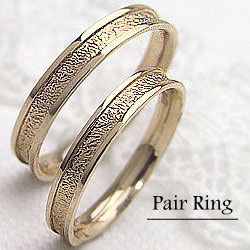 結婚指輪 ゴールド デザインリング ペアリング イエローゴールドK18 マリッジリング 18金 2本セット ペア 文字入れ 刻印 可能 婚約 結婚式 ブライダル ウエディング