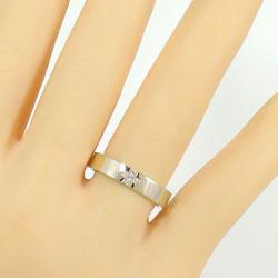 結婚指輪 ゴールド クロス ダイヤモンド ブラックダイヤモンド ペアリング ピンクゴールドK18 ホワイトゴールドK18 マリッジリング 十字架 18金 2本セット ペア 文字入れ 刻印 可能 婚約 結婚式 ブライダル 新生活 在宅 ファッションZXiuPk