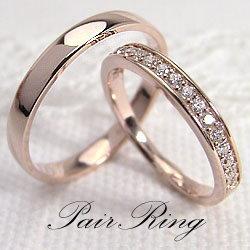 結婚指輪 ゴールド エタニティリング 平打ち ペアリング ダイヤモンド 0.20ct ピンクゴールドK18 マリッジリング 18金 2本セット ペア 文字入れ 刻印 可能 婚約 結婚式 ブライダル ウエディング ギフト クリスマス プレゼント xmas