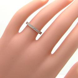 結婚指輪 ゴールド エタニティリング ミル打ち ダイヤモンド ペアリング ピンクゴールドK10 マリッジリング 10金 2本セット 文字入れ 刻印 可能 婚約 結婚式 ブライダル ウエディング ギフト 新生活 在宅 ファッションARL5j4