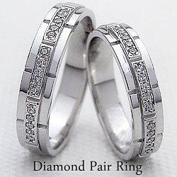 結婚指輪 ゴールド バンドデザイン ダイヤモンド ペアリング マリッジリング ホワイトゴールドK18 ベルト 18金 2本セット ペア 文字入れ 刻印 可能 婚約 結婚式 ブライダル ウエディング ギフト バレンタインデー ホワイトデー