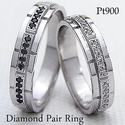 結婚指輪 プラチナ ダイヤモンド ブラックダイヤモンド マリッジリング Pt900 2本セット ペア 文字入れ 刻印 可能 婚約 結婚式 ブライダル ウエディング ギフト クリスマス プレゼント xmas