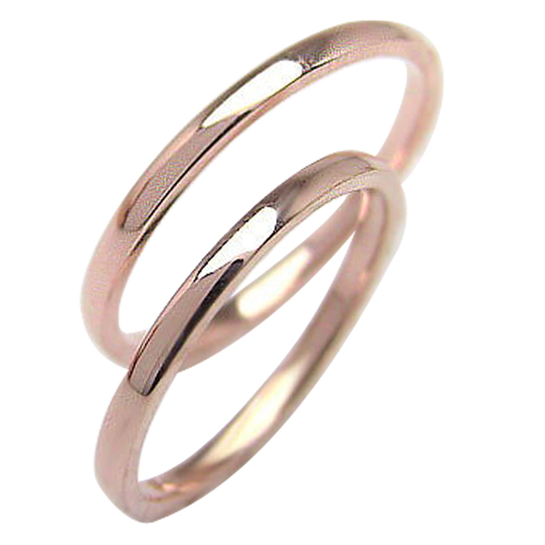 結婚指輪 結婚指輪 ゴールド ペアリング シンプル ストレートリング ピンクゴールドK10 マリッジリング 10金 2本セット ペア 文字入れ 刻印 可能 婚約 結婚式 ブライダル ウエディング ギフト バレンタインデー ホワイトデー