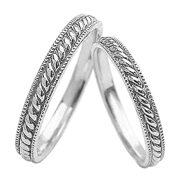結婚指輪 プラチナ ツイストライン アンティーク ペアリング Pt900 マリッジリング 2本セット ペア 文字入れ 刻印 可能 婚約 結婚式 ブライダル ウエディング ギフト クリスマス プレゼント xmas