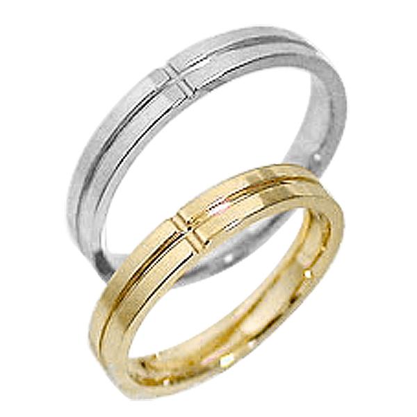 結婚指輪 ゴールド クロス ペアリング イエローゴールドK10 ホワイトゴールドK10 マリッジリング 十字架 10金 2本セット ペア 文字入れ 刻印 可能 婚約 結婚式 ブライダル ウエディング ギフト 新生活 在宅 ファッションGLSVpqUzM