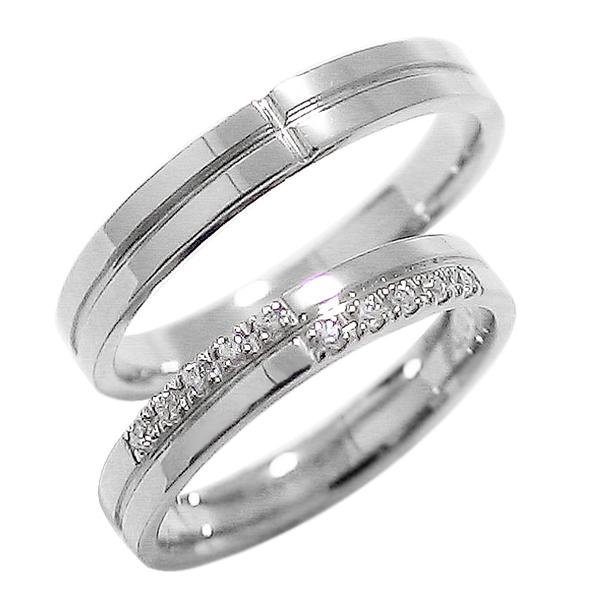 結婚指輪 プラチナ クロス 結婚指輪 ペアリング ダイヤモンド Pt900 マリッジリング 十字架 2本セット ペア 文字入れ 刻印 可能 婚約 結婚式 ブライダル ウエディング ギフト 新生活 在宅 ファッション 自粛