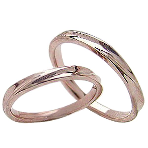 結婚指輪 ゴールド デザインリング ペアリング ピンクゴールドK10 マリッジリング 10金 2本セット ペア 文字入れ 刻印 可能 婚約 結婚式 ブライダル ウエディング 新生活 在宅 ファッション 自粛