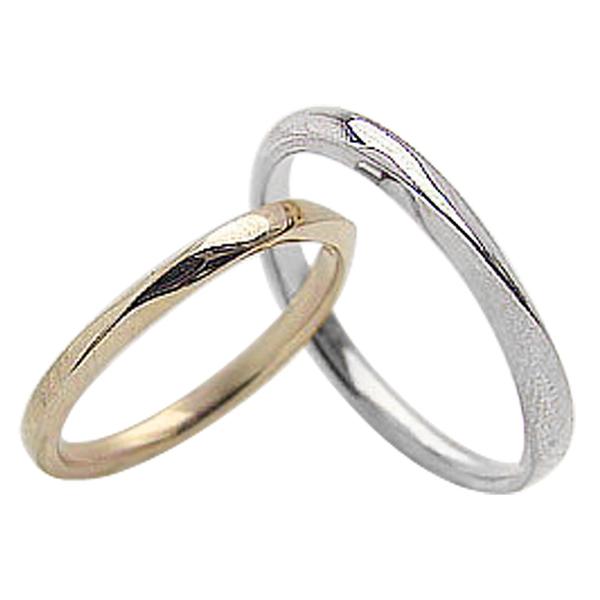 結婚指輪 ゴールド ツイストライン ペアリング イエローゴールドK10 ホワイトゴールドK10 マリッジリング 10金 2本セット ペア 文字入れ 刻印 可能 婚約 結婚式 ブライダル ウエディング ギフト 新生活 在宅 ファッション