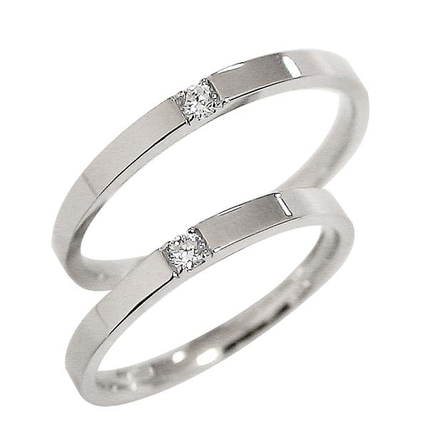ペアリング プラチナ ダイヤモンド 結婚指輪 マリッジリング Pt900  結婚式 天然ダイヤモンド プラチナ900 2本セット 記念日 プレゼント アクセサリー 工房 通販 直送 ショップ 刻印 文字入れ 名入れ 可能 ギフト バレンタインデー ホワイトデー