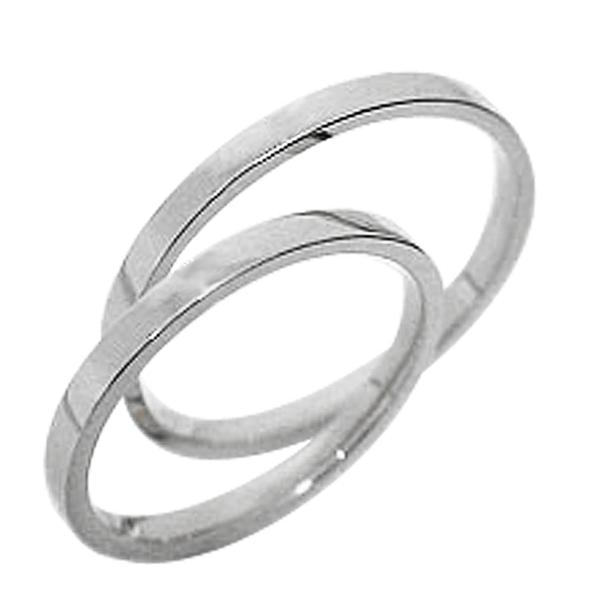 結婚指輪 ゴールド ペアリング ホワイトゴールドK18 マリッジリング シンプル K18WG 18金 2本セット ペア 文字入れ 刻印 可能 婚約 結婚式 ブライダル ウエディング ギフト 新生活 在宅 ファッション