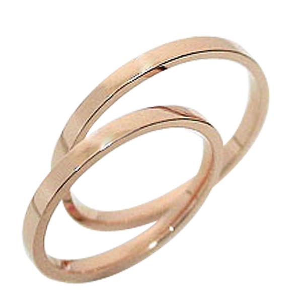結婚指輪 シンプル ペアリング ピンクゴールドK10 マリッジリング K10金 2本セット 記念日 2本セット 文字入れ 刻印 可能 婚約 結婚式 ブライダル ウエディング ギフト 新生活 在宅 ファッション 自粛