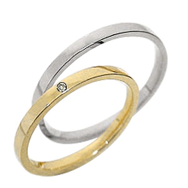 結婚指輪 一粒ダイヤ ペアリング イエローゴールドK10 ホワイトゴールドK10 マリッジリング ダイヤモンド 10金 2本セット 文字入れ 刻印 可能 婚約 結婚式 ブライダル ウエディング ギフト 新生活 在宅 ファッション 自粛
