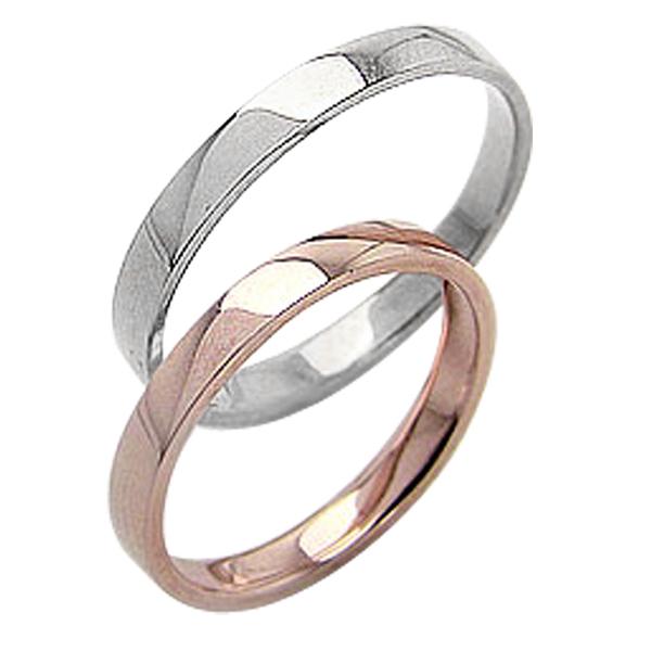 結婚指輪 平打ち 2.5mm幅 ペアリング ピンクゴールドK10 ホワイトゴールドK10 マリッジリング 10金 2本セット 文字入れ 刻印 可能 婚約 結婚式 ブライダル ウエディング ギフト 新生活 在宅 ファッション 自粛