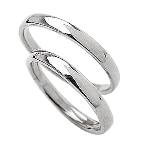 結婚指輪 平甲丸 2.5mm幅 ホワイトゴールドK10 ペア リング マリッジリング 10金 記念日 2本セット 文字入れ 刻印 可能 婚約 結婚式 ブライダル ウエディング ギフト 新生活 在宅 ファッション 自粛