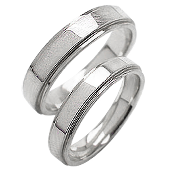 結婚指輪 ゴールド 幅広 段差デザイン ペアリング ホワイトゴールドK18 18金 2本セット ペア 文字入れ 刻印 可能 婚約 結婚式 ブライダル ウエディング ギフト 新生活 在宅 ファッション 自粛