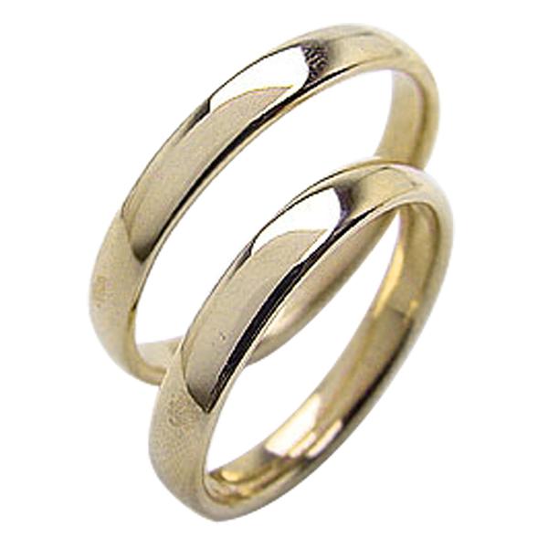 結婚指輪 イエローゴールドK18 平甲丸 3mm幅 ペアリング マリッジリング 18金 2本セット 文字入れ 刻印 可能 婚約 結婚式 ブライダル ウエディング ギフト 新生活 在宅 ファッションWH2IDE9Y