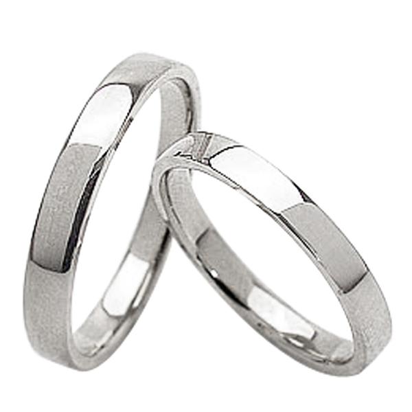 結婚指輪 平打ち 2.5mm 3.0mm幅 ペアリング ホワイトゴールドK10 マリッジリング 10金 2本セット 文字入れ 刻印 可能 婚約 結婚式 ブライダル ウエディング ギフト 新生活 在宅 ファッション 自粛