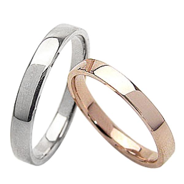 結婚指輪 平打ち 2.5mm 3.0mm幅 ペアリング ピンクゴールドK10 ホワイトゴールドK10 マリッジリング 10金 2本セット 文字入れ 刻印 可能 婚約 結婚式 ブライダル ウエディング ギフト 新生活 在宅 ファッション 自粛