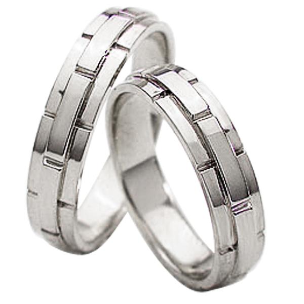 結婚指輪 ゴールド バンドデザイン ペアリング マリッジリング ホワイトゴールドK18 ベルト 18金 2本セット ペア 文字入れ 刻印 可能 婚約 結婚式 ブライダル ウエディング ギフト 新生活 在宅 ファッション
