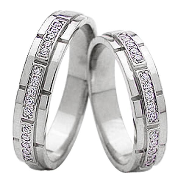 結婚指輪 プラチナ バンド デザイン ダイヤモンド ペアリング マリッジリング Pt900 2本セット ペア 文字入れ 刻印 可能 婚約 結婚式 新生活 在宅 ファッション