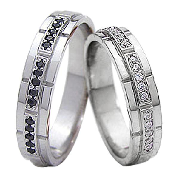 結婚指輪 プラチナ ダイヤモンド ブラックダイヤモンド マリッジリング Pt900 2本セット ペア 文字入れ 刻印 可能 婚約 結婚式 ブライダル ウエディング ギフト 新生活 在宅 ファッション
