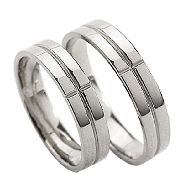 結婚指輪 ゴールド クロス ペアリング シンプル ホワイトゴールドK10 マリッジリング 10金 2本セット ペア 文字入れ 刻印 可能 婚約 結婚式 ブライダル ウエディング ギフト クリスマス プレゼント xmas
