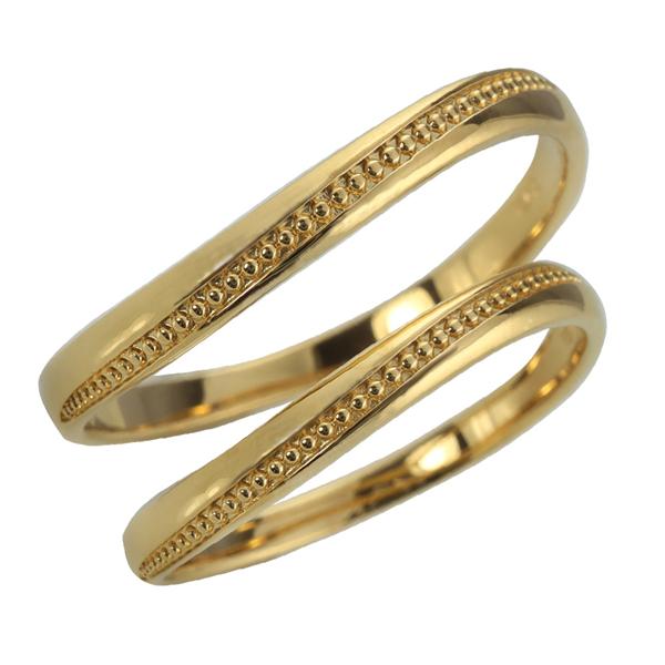 ペアリング ゴールド 結婚指輪 マリッジリング 2本セット レディース メンズ セット価格 送料無料 結婚指輪 ゴールド ミル打ち ペアリング 10金 マリッジリング 2本セット ペア 文字入れ 刻印 可能 婚約 結婚式 ブライダル ウエディング おすすめ プレゼント