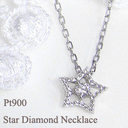 プラチナ900 一粒ダイヤモンド ネックレス ペンダント Pt900 Pt850 プチアクセサリー