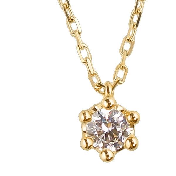 ネックレス レディース クラウンデザイン 一粒ダイヤネックレス 10金 ペンダント K10WG K10PG K10YG diamond necklace 通販ショップ クリスマス プレゼント xmas fb