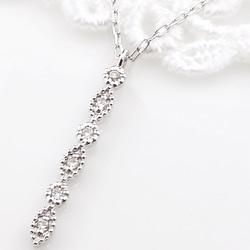 ネックレス レディース ネックレス プラチナ ダイヤモンド ストレートライン 縦長 Iライン ペンダント Pt900 850 Diamond Necklace クリスマス プレゼント xmas