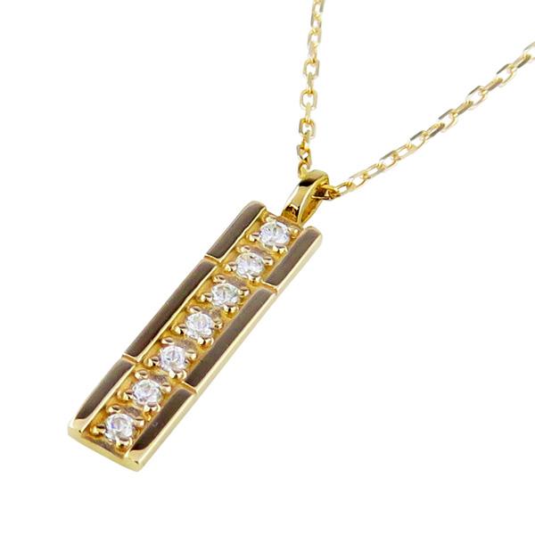 ネックレス レディース 7石 ダイヤモンド ネックレス 18金 K18 ストレート ペンダント アズキチェーン 40cm 天然ダイヤ 首飾り クリスマス プレゼント xmas