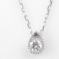 ネックレス レディース 一粒ダイヤネックレス プラチナ しずくペンダント Pt900 Pt850 diamond necklace 通販ショップ クリスマス プレゼント xmas fb