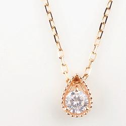 ネックレス レディース 一粒ダイヤネックレス 18金 しずくペンダント K18WG K18PG K18YG diamond necklace 通販ショップ クリスマス プレゼント xmas fb