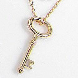 18金 ネックレス ペンダント K18WG K18PG K18YG 鍵 キーペンダント カギ