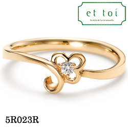 【割引クーポンが使える】 K18ピンクゴールド ダイヤモンド リング エトワ ジュエリー