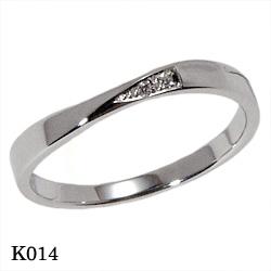 【割引クーポンが使える】 結婚指輪 プラチナ900 ダイヤモンド マリッジリング エトワ K014 【ポイント2倍 刻印無料 送料無料】