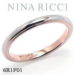 結婚指輪 プラチナ900 K18ピンクゴールド マリッジリング ニナリッチ 6R1F01 【ポイント2倍 刻印無料 送料無料】