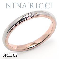 結婚指輪 プラチナ900 K18ピンクゴールド ダイヤモンド マリッジリング ニナリッチ 6R1F02 【ポイント2倍 刻印無料 送料無料】