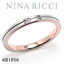 結婚指輪 プラチナ900 K18ピンクゴールド ダイヤモンド マリッジリング ニナリッチ 6R1F05 【ポイント2倍 刻印無料 送料無料】