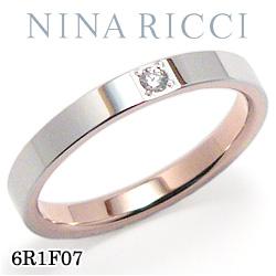 結婚指輪 プラチナ900 K18ピンクゴールド ダイヤモンド マリッジリング ニナリッチ 6R1F07 【ポイント2倍 刻印無料 送料無料】