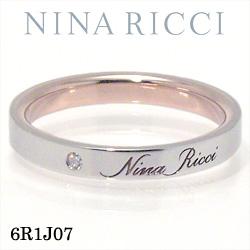 結婚指輪 プラチナ900 K18ピンクゴールド ダイヤモンド マリッジリング ニナリッチ 6R1J07 【ポイント2倍 刻印無料 送料無料】