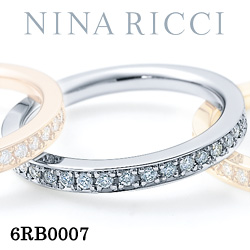 結婚指輪 プラチナ900 ダイヤモンド マリッジリング ニナリッチ 6RB0007 【ポイント2倍 刻印無料 送料無料】
