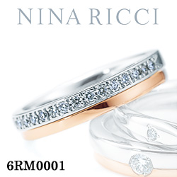 結婚指輪 プラチナ900 K18ピンクゴールド ダイヤモンド マリッジリング ニナリッチ 6RM0001  プラチナ結婚指輪 ピンクゴールド結婚指輪 ペア結婚指輪 刻印無料結婚指輪 送料無料結婚指輪 シンプル結婚指輪 ブライダル結婚指輪